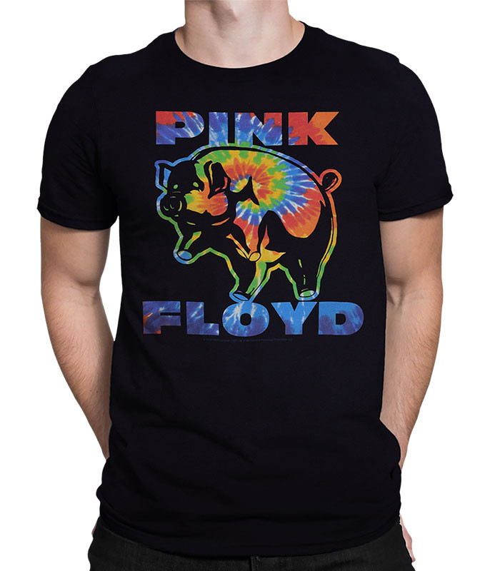 PSYCHEDELIC PIG BLACK T-SHIRT
