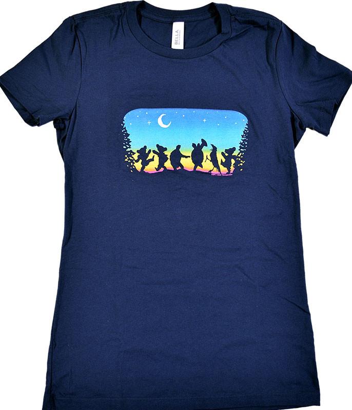 Grateful Dead GD Moondance Navy Juniors Long Length T-Shirt Tee