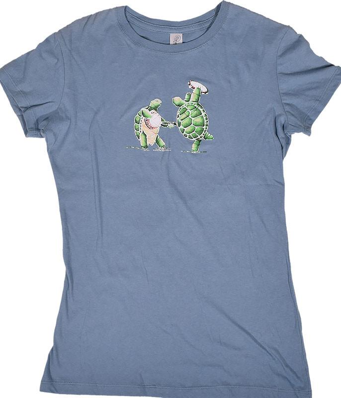 Grateful Dead GD Terrapin Station Light Blue Juniors Long Length T-Shirt Tee