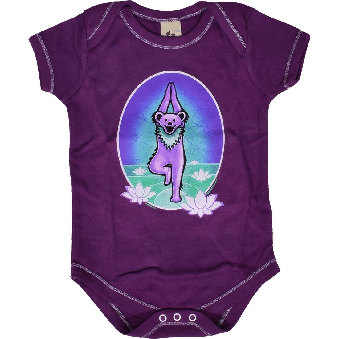 GD Yoga Bear Purple Onesie