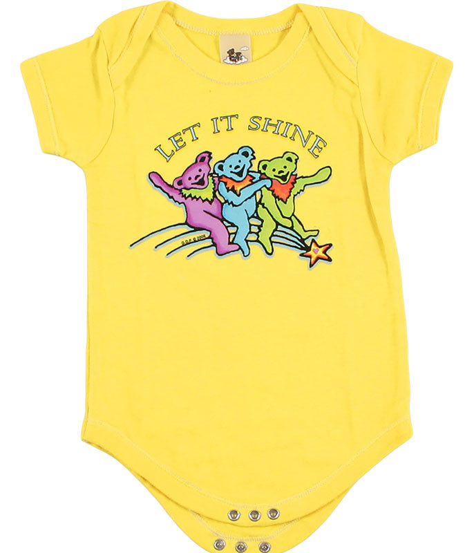 Grateful Dead GD Let it Shine Yellow Onesie