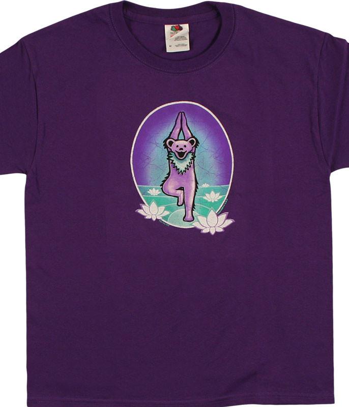 GD Yoga Bear Youth Purple T-Shirt