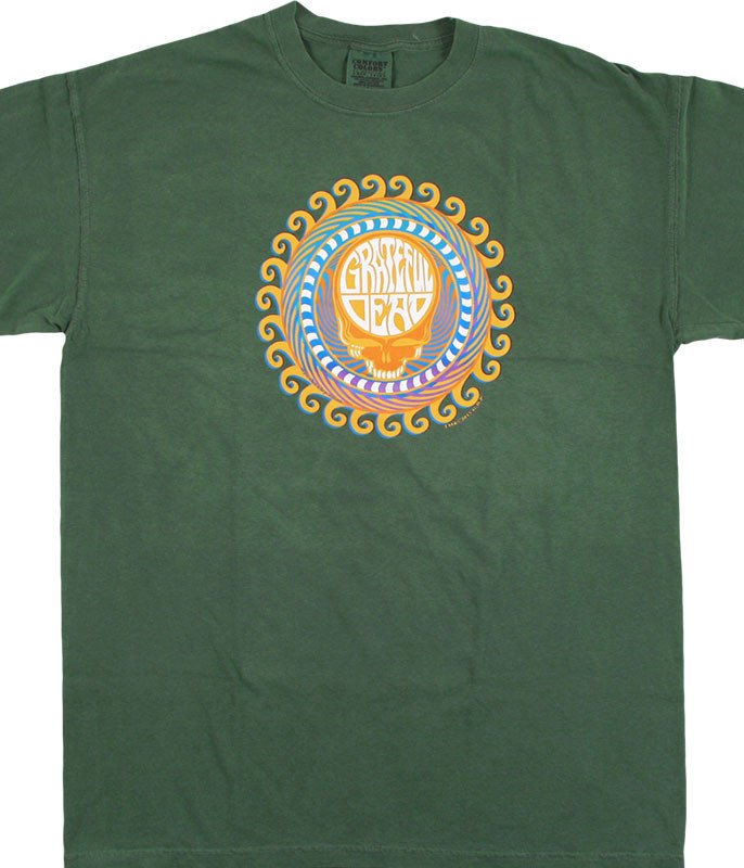 Grateful Dead GD Orange Sunshine SYF Green T-Shirt Tee