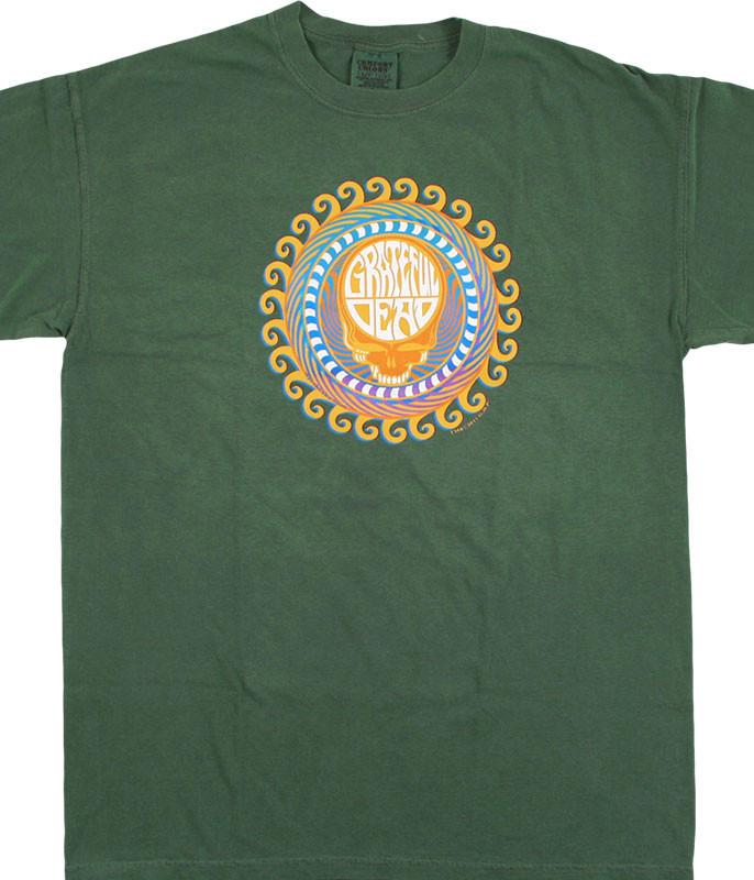 Grateful Dead GD Orange Sunshine SYF Green T-Shirt Tee