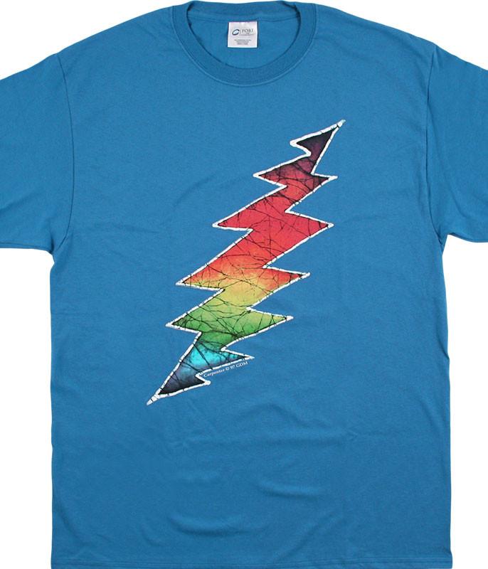 Grateful Dead GD Lightning Bolt Blue T-Shirt Tee