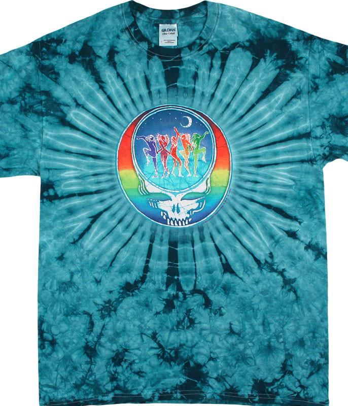 Grateful Dead GD Dancing Face Tie-Dye T-Shirt Tee