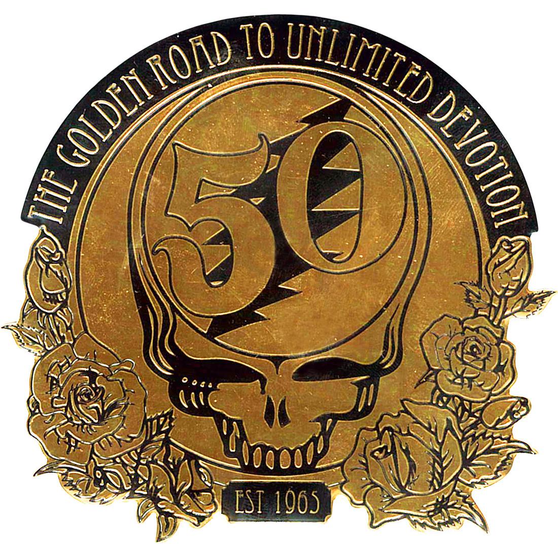 GD 50th Anniversary Gold Metallic Sticker