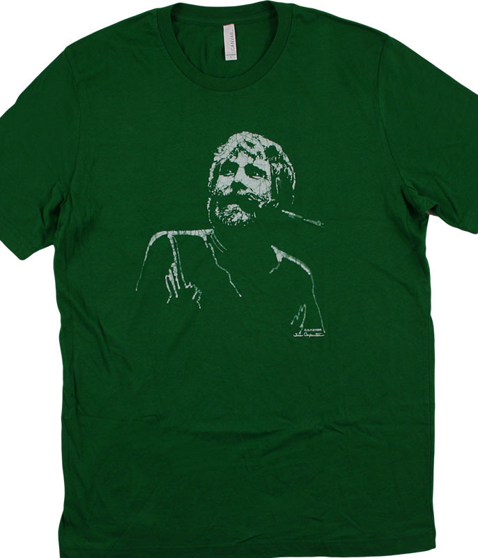 Grateful Dead Brent Mydland Green Athletic T-Shirt Tee
