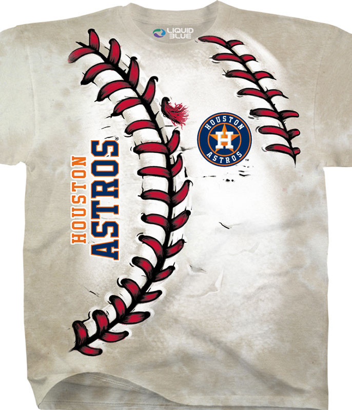 MLB Houston Astros Youth Hardball Tie-Dye T-Shirt Tee Liquid Blue