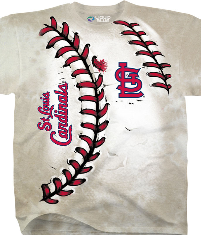 MLB St. Louis Cardinals Youth Hardball Tie-Dye T-Shirt Tee Liquid Blue