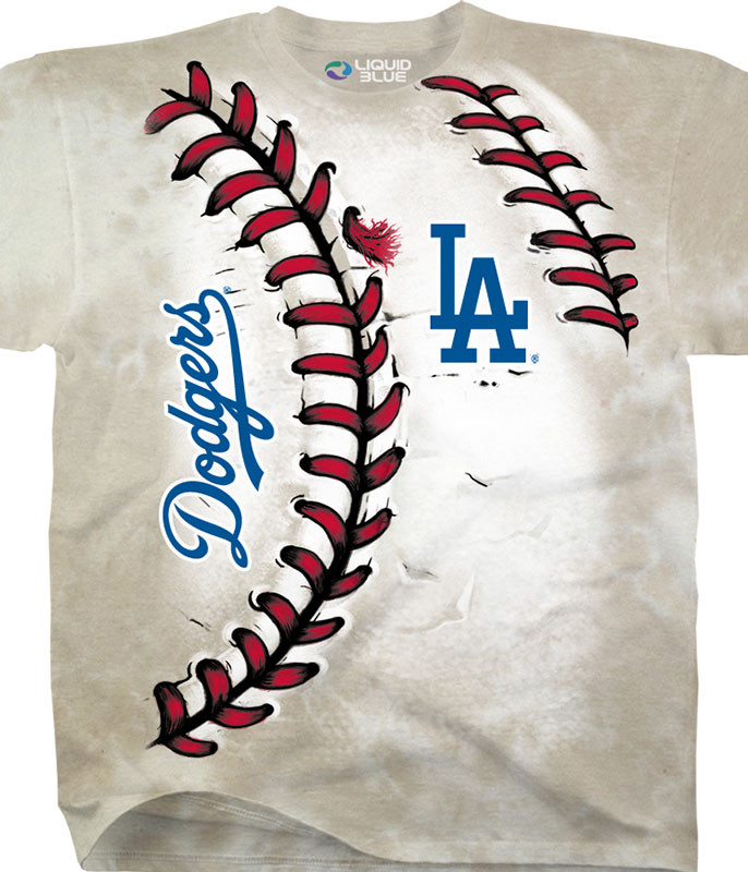 MLB Los Angeles Dodgers Youth Hardball Tie-Dye T-Shirt Tee Liquid Blue