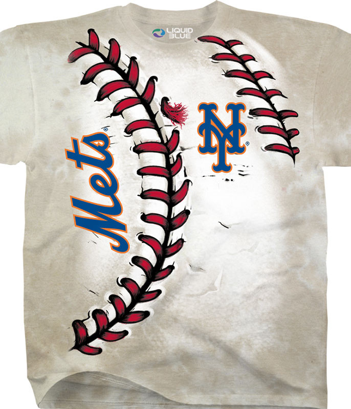 MLB New York Mets Youth Hardball Tie-Dye T-Shirt Tee Liquid Blue
