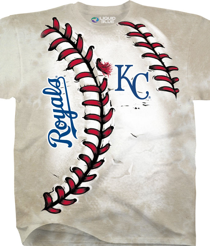 MLB Kansas City Royals Youth Hardball Tie-Dye T-Shirt Tee Liquid Blue