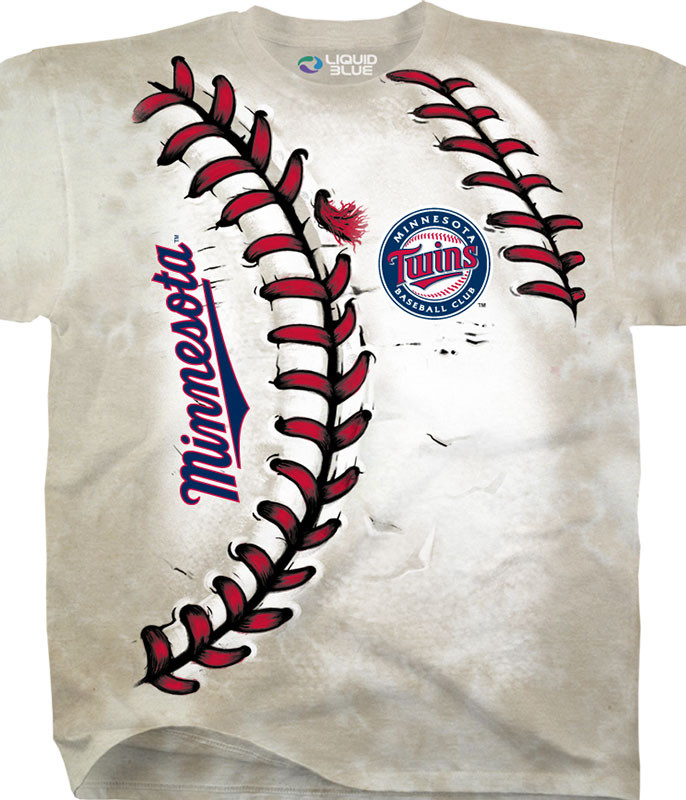 MLB Minnesota Twins Youth Hardball Tie-Dye T-Shirt Tee Liquid Blue