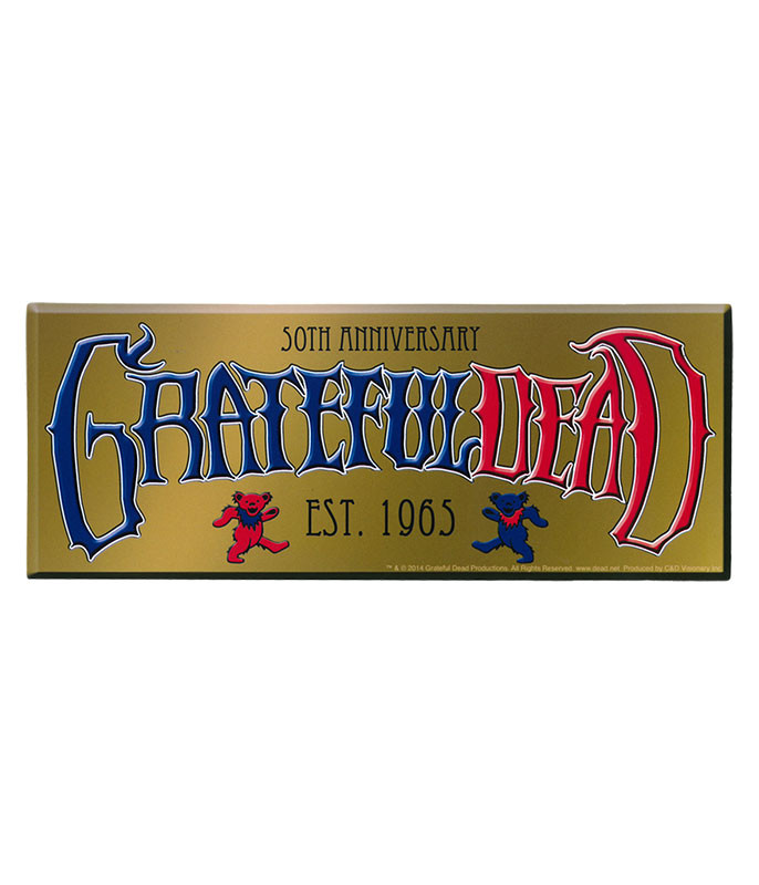 Grateful Dead GD 50th Anniversary Established Sticker
