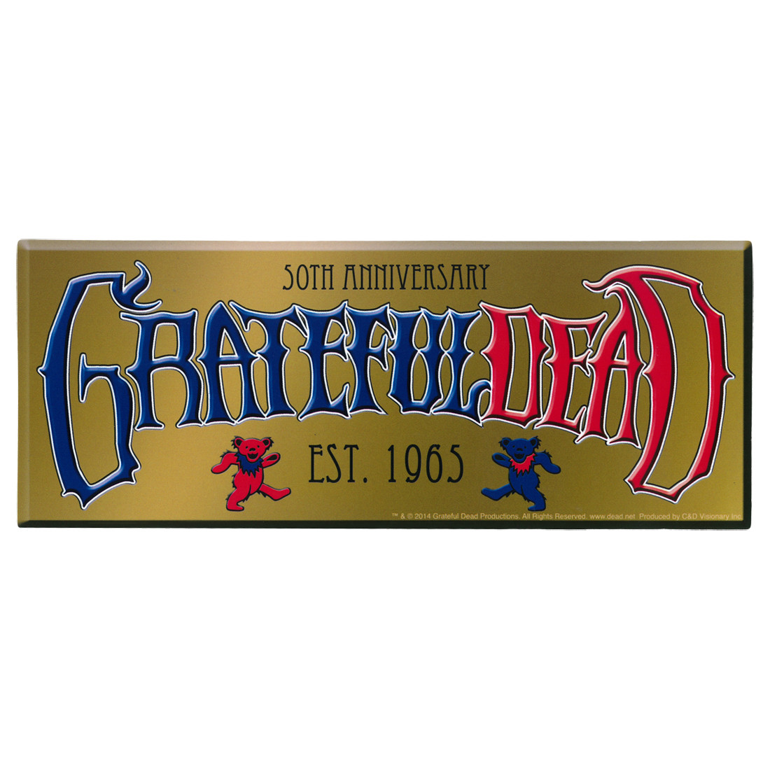 GD 50th Anniversary Established Sticker
