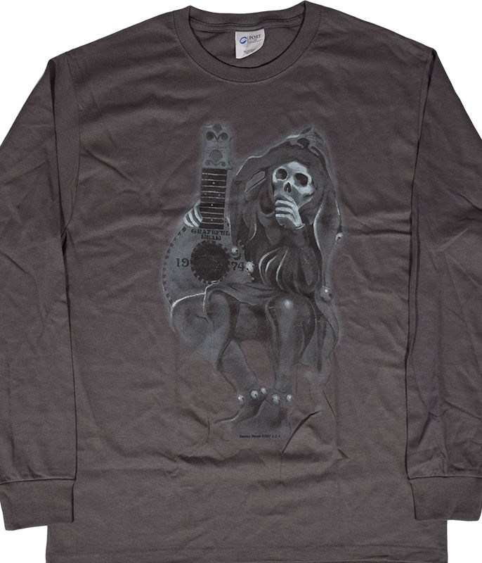 Grateful Dead GD Jester Grey Long Sleeve T-Shirt Tee .