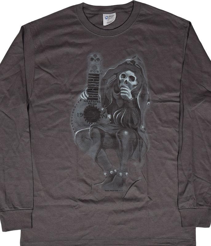 Grateful Dead GD Jester Grey Long Sleeve T-Shirt Tee .