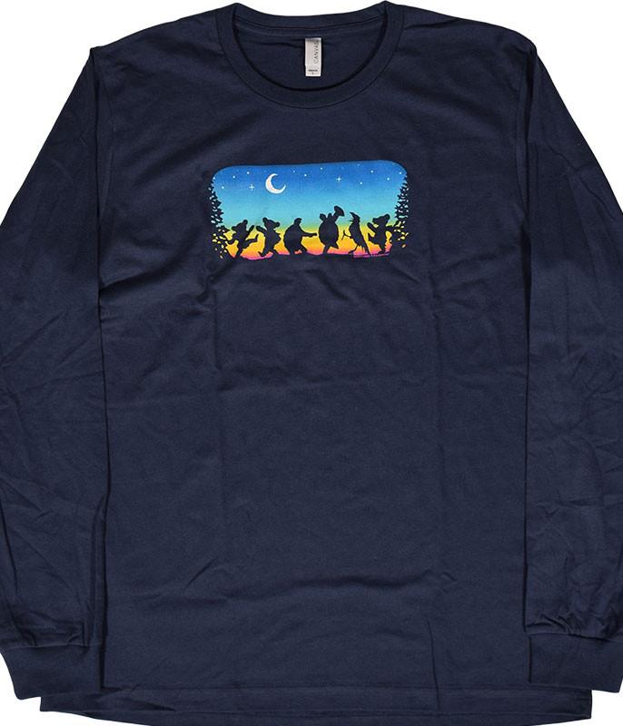 Grateful Dead GD Moondance Navy Long Sleeve T-Shirt Tee .