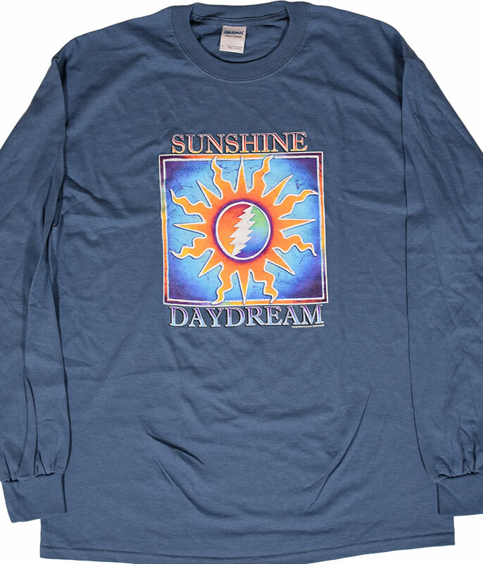 Grateful Dead GD Sunshine Daydream Blue Long Sleeve T-Shirt Tee .