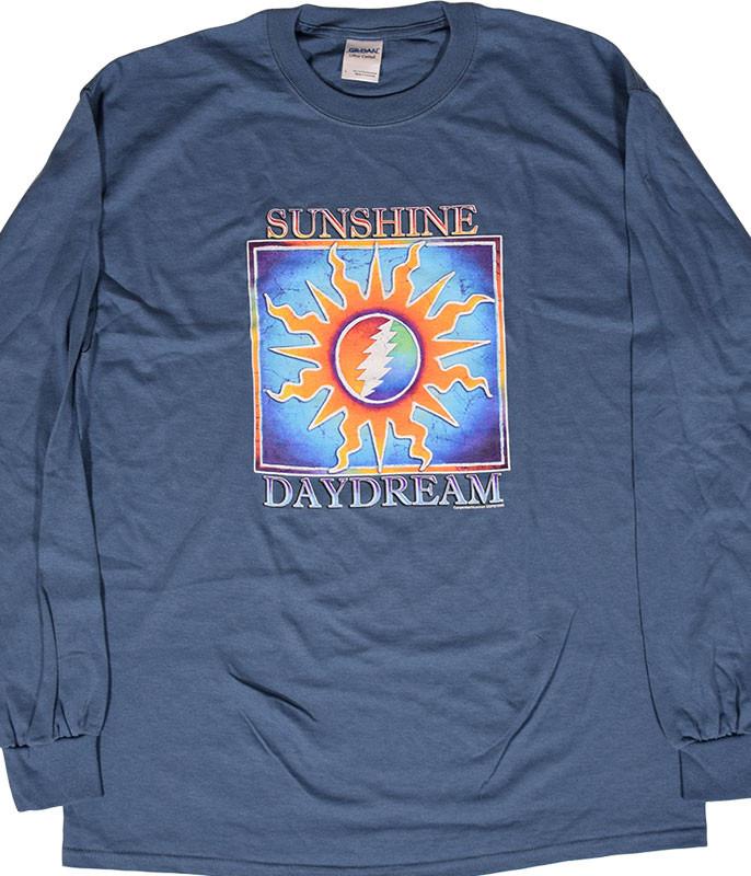 Grateful Dead GD Sunshine Daydream Blue Long Sleeve T-Shirt Tee .