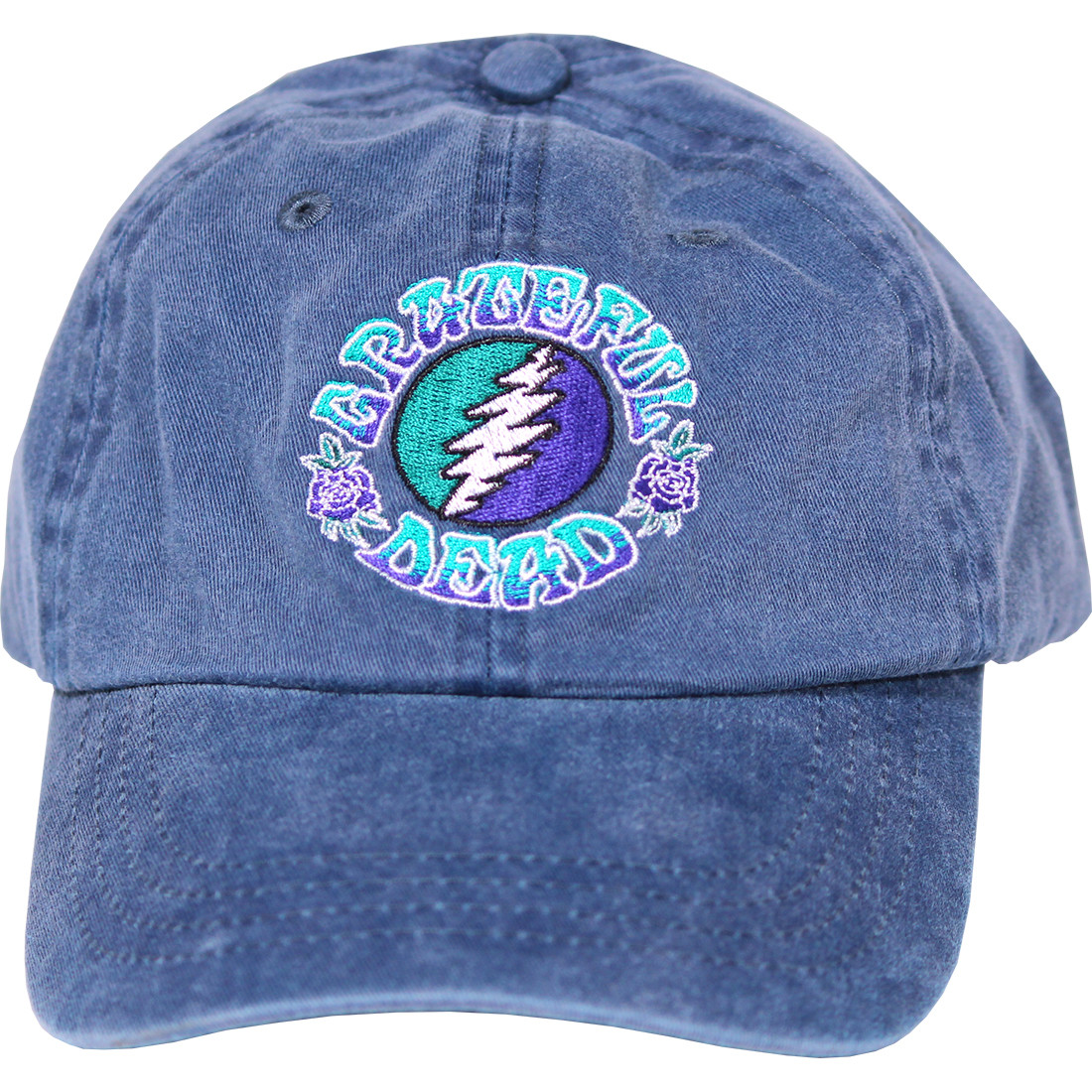 Grateful Dead GD Batik SYF Denim Baseball Cap Liquid Blue 1b3e4dfce83a