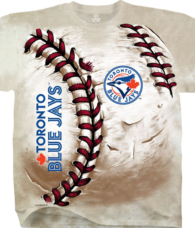 MLB Toronto Blue Jays Hardball Tie-Dye T-Shirt Tee Liquid Blue
