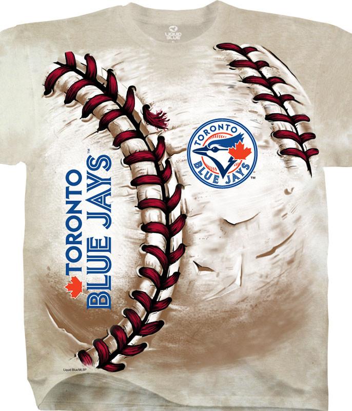 Toronto Blue Jays Hardball Tie-Dye T-Shirt
