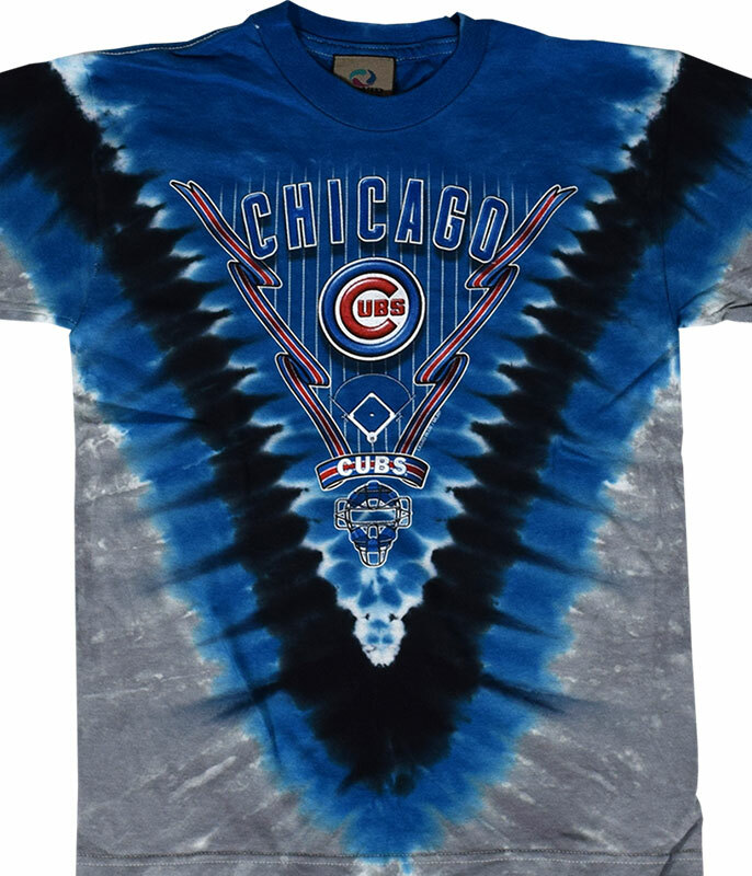 MLB Chicago Cubs Youth Tie-Dye T-Shirt Tee Liquid Blue