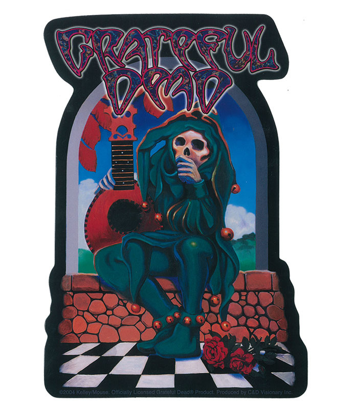 Grateful Dead GD Jester Sticker
