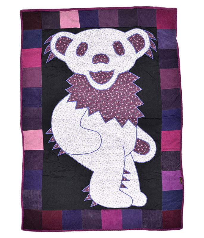 Grateful Dead GD Bear Patchwork Quilt