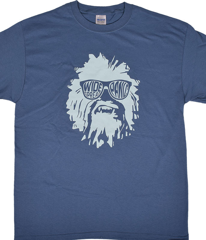 Widespread Panic Wukee Glasses Blue T-Shirt Tee