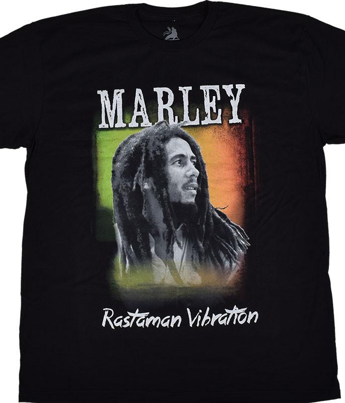 Bob Marley Rastaman Vibe Black T-Shirt Tee