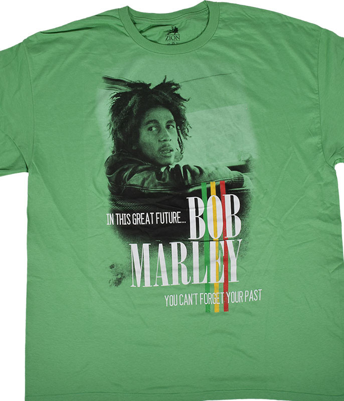 Bob Marley Forget the Past Green T-Shirt Tee