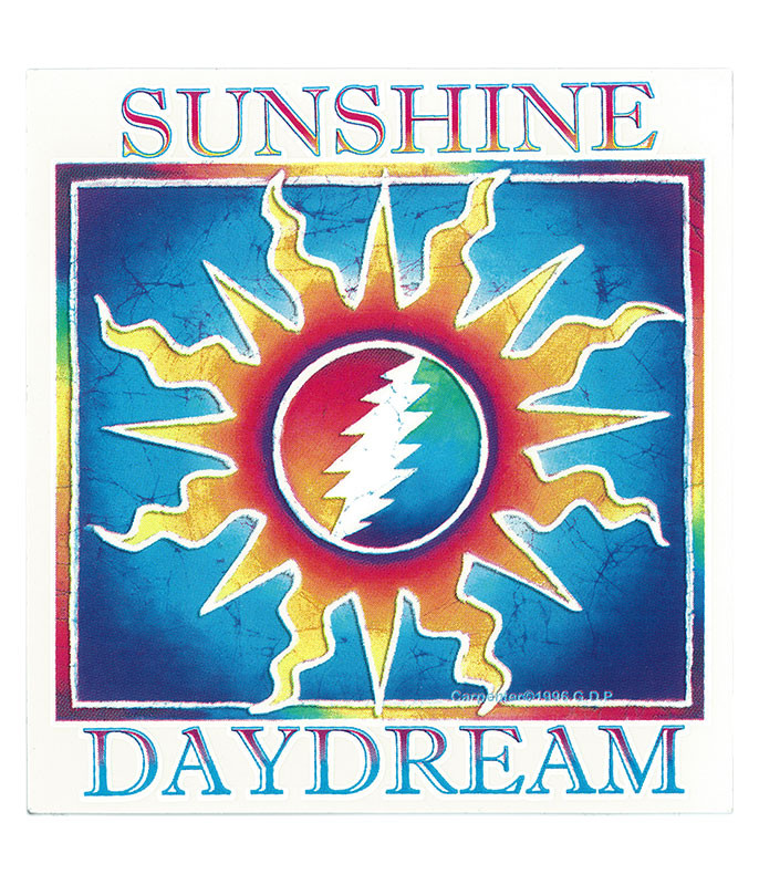 Grateful Dead GD Sunshine Daydream Sticker