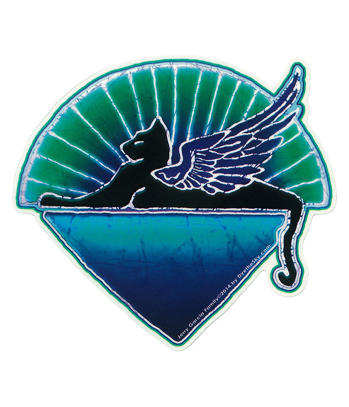 JERRY GARCIA WINGED CAT STICKER