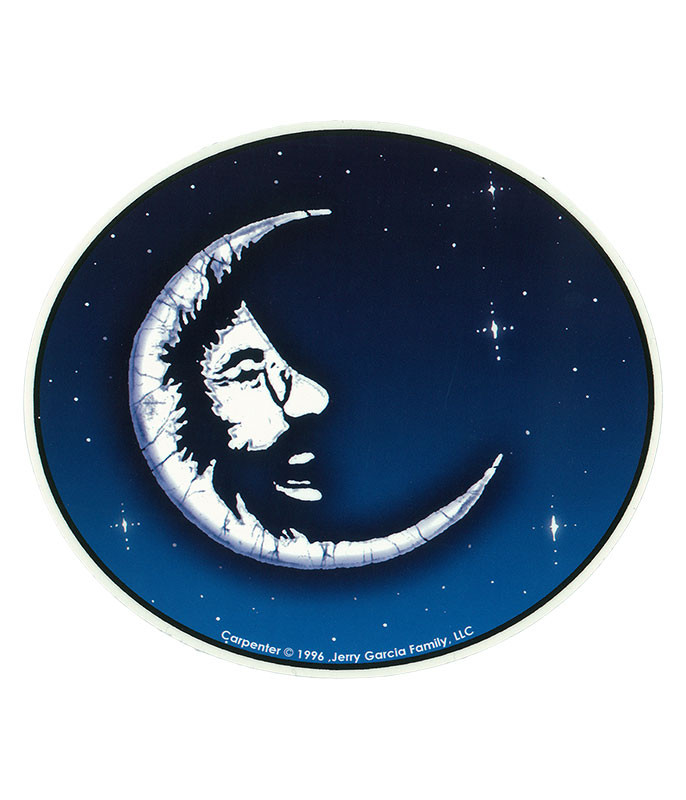 Jerry Garcia Moon Sticker