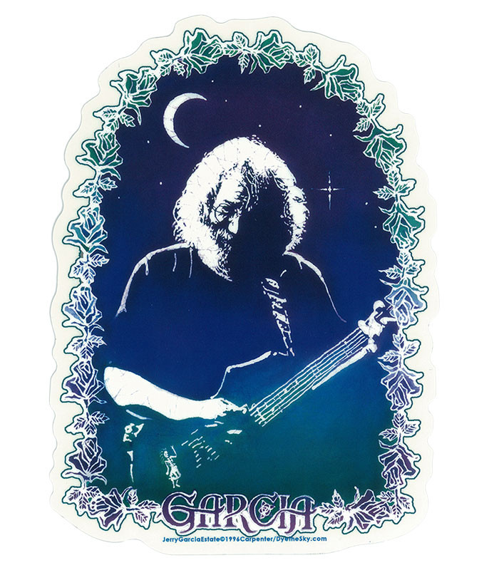 Jerry Garcia Roses Sticker