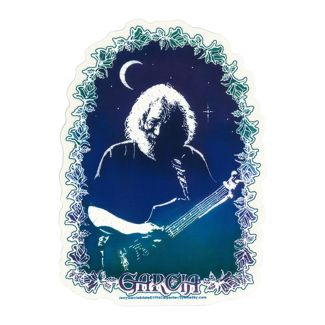Jerry Garcia Roses Sticker