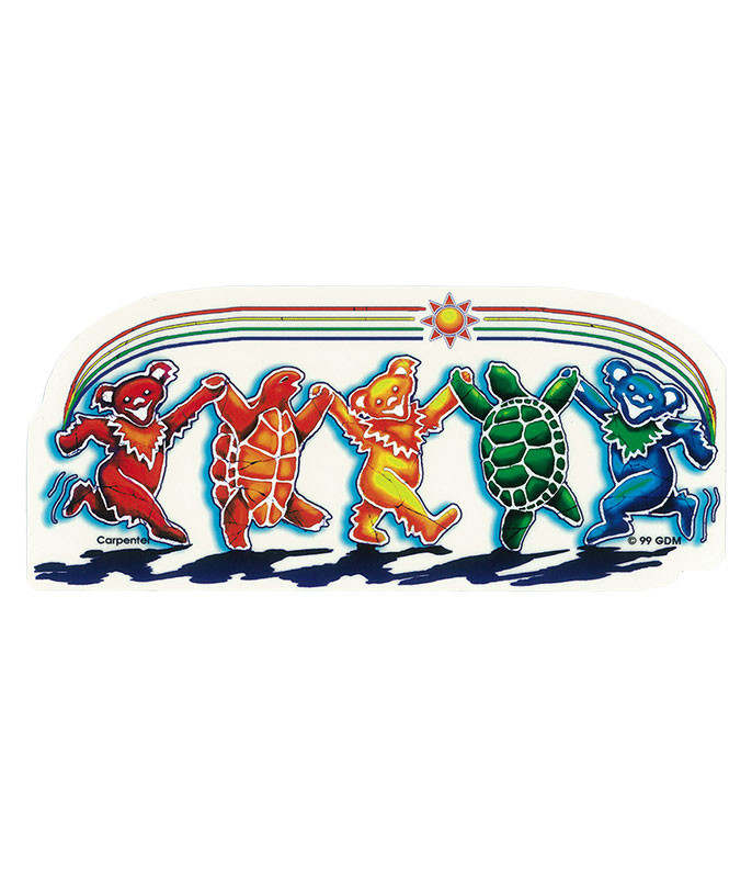 Grateful Dead GD Rainbow Critters Sticker