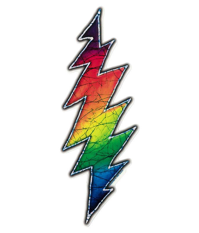 Grateful Dead GD Batik Bolt Sticker