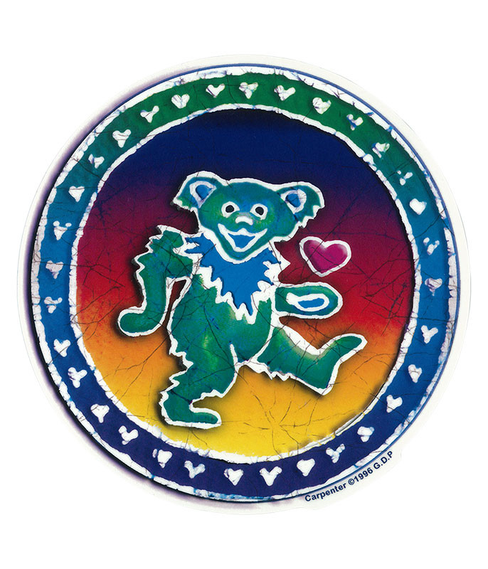 Grateful Dead GD Batik Dancing Bear Sticker
