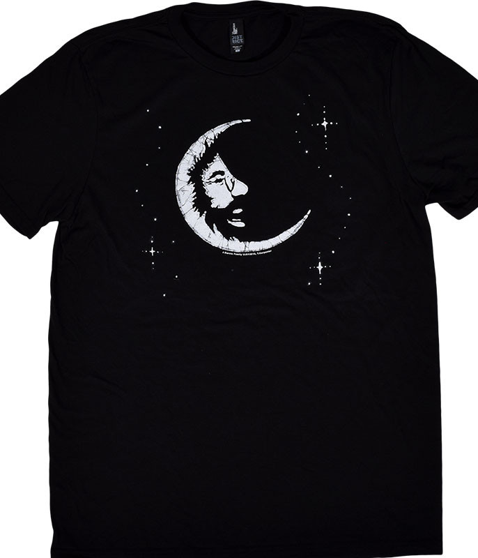 Jerry Garcia Jerry Moon Black T-Shirt Tee