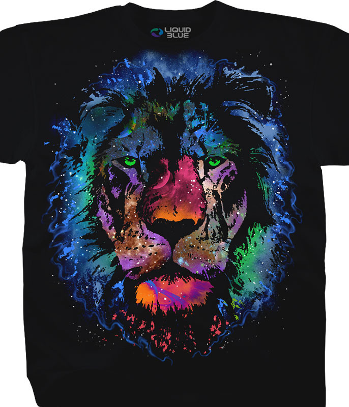 COSMIC LION BLACK T-SHIRT