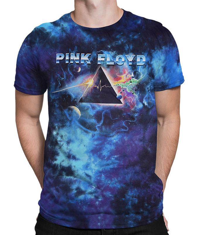 Pink Floyd Pulsar Prism Tie-Dye T-Shirt Tee Liquid Blue