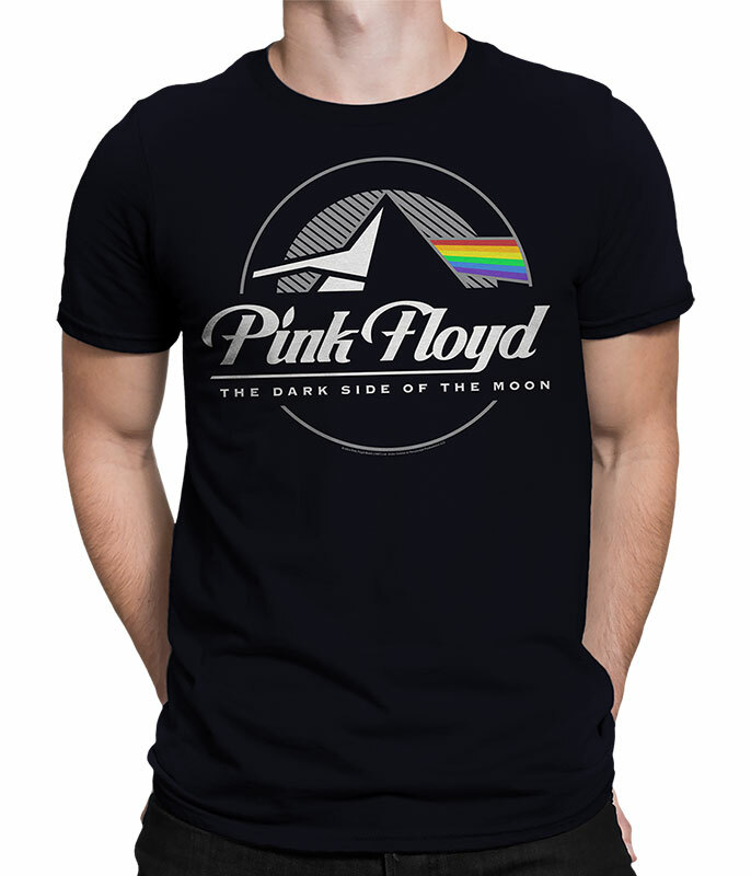 Pink Floyd Dark Side Graphic Black T-Shirt Tee Liquid Blue