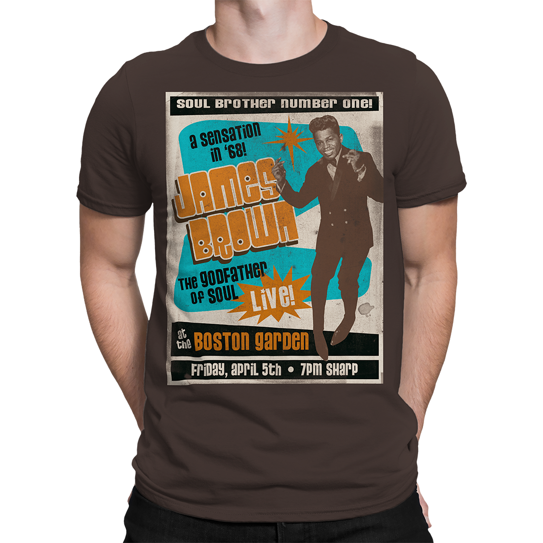 Soul Brother No. 1 Brown Athletic T-Shirt
