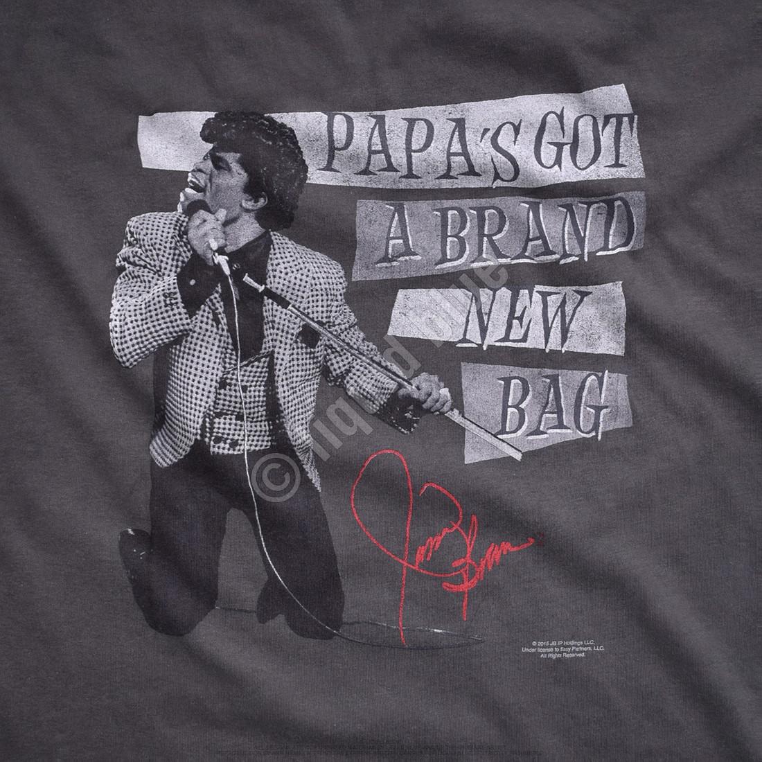 Papa's Got a Brand New Bag Grey Athletic T-Shirt