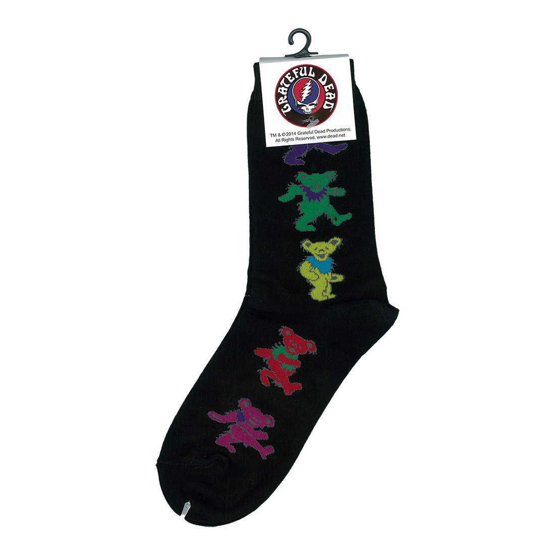 GD Dancing Bear Ladies Black Socks