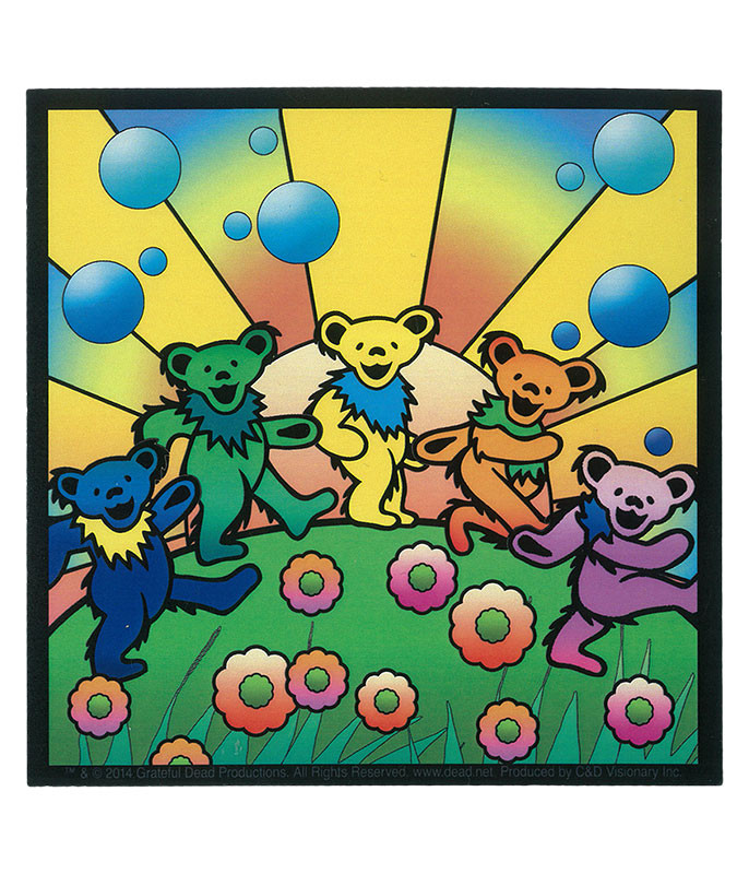 Grateful Dead GD Bear Utopia Sticker